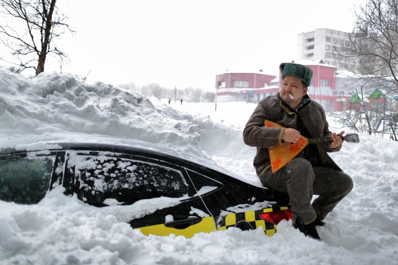 Прикольные фото зима россия