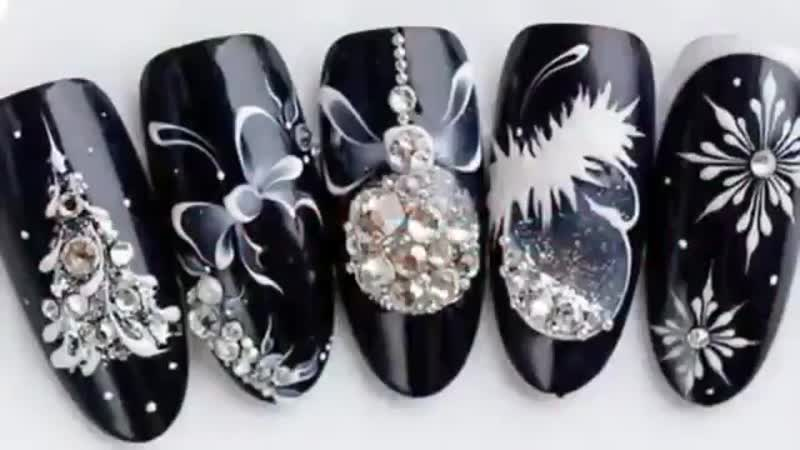Top 10 Christmas and New Year Elegant Nail Art Designs _ Nail Art Tutorial Winte