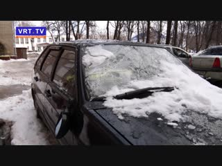 И снова снег, и снова жалобы! В редакцию поступили тревожные звонки от жителей домов 9 и 31 А по улице Советской и пр-ту Ленина.