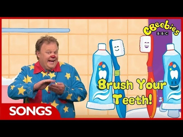CBeebies | Something Special | Mr Tumble's Brush Your Teeth Song