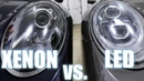 Xenon vs LED Porsche PDLS headlights - also Halogen