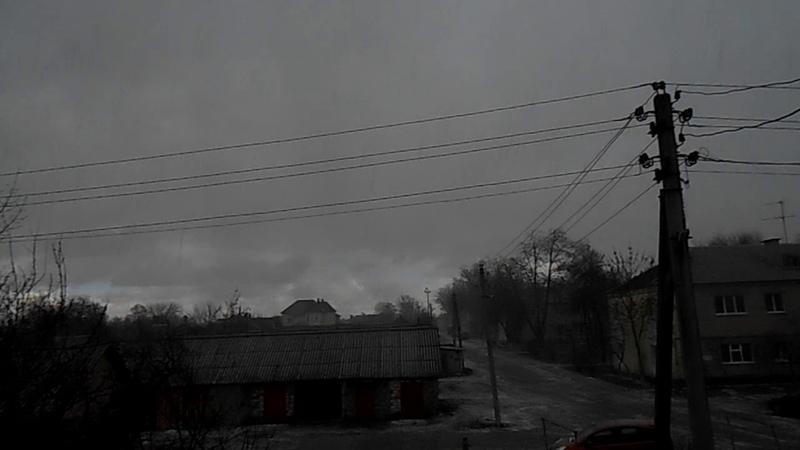 Cнежная крупа с сильным ветром в Гомеле 14 марта 2020 Meteothica
