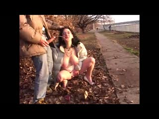 Eastern european whores fuck and piss in public, part iii