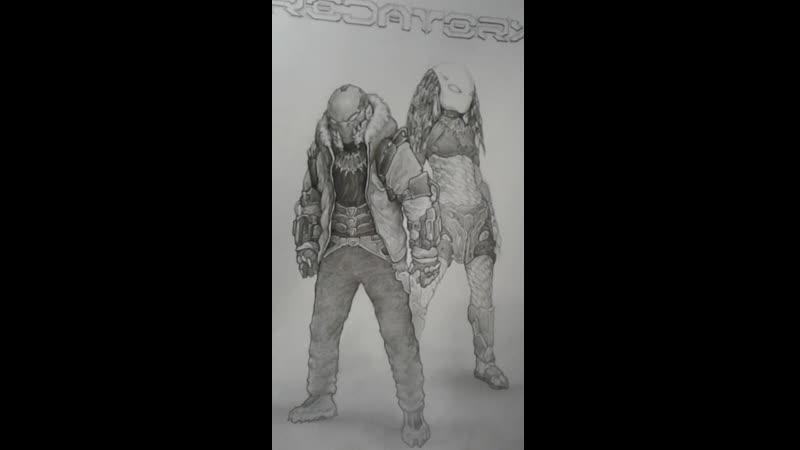 Some Predators Concept Sketches Predatory Planet Project by PRED'ALEX