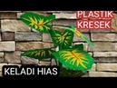 Keladi Hias dari PLASTIK KRESEK - How to make decorative taro from a plastic bag