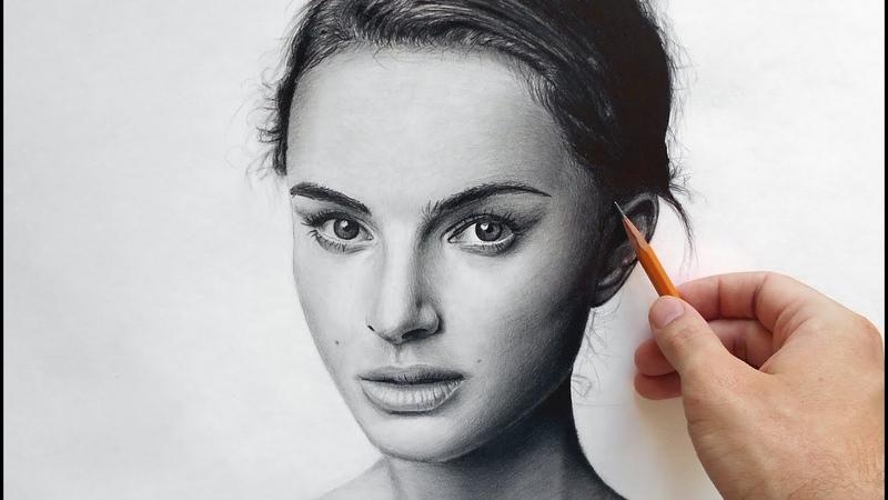 Натали Портман портрет карандашом Natalie Portman drawing portrait