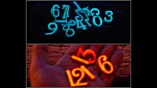 #Цифры #Светящиесявтемноте DIY How to make numbers glowing in the dark with your own hands.Как сделать светящиеся цифры самому.