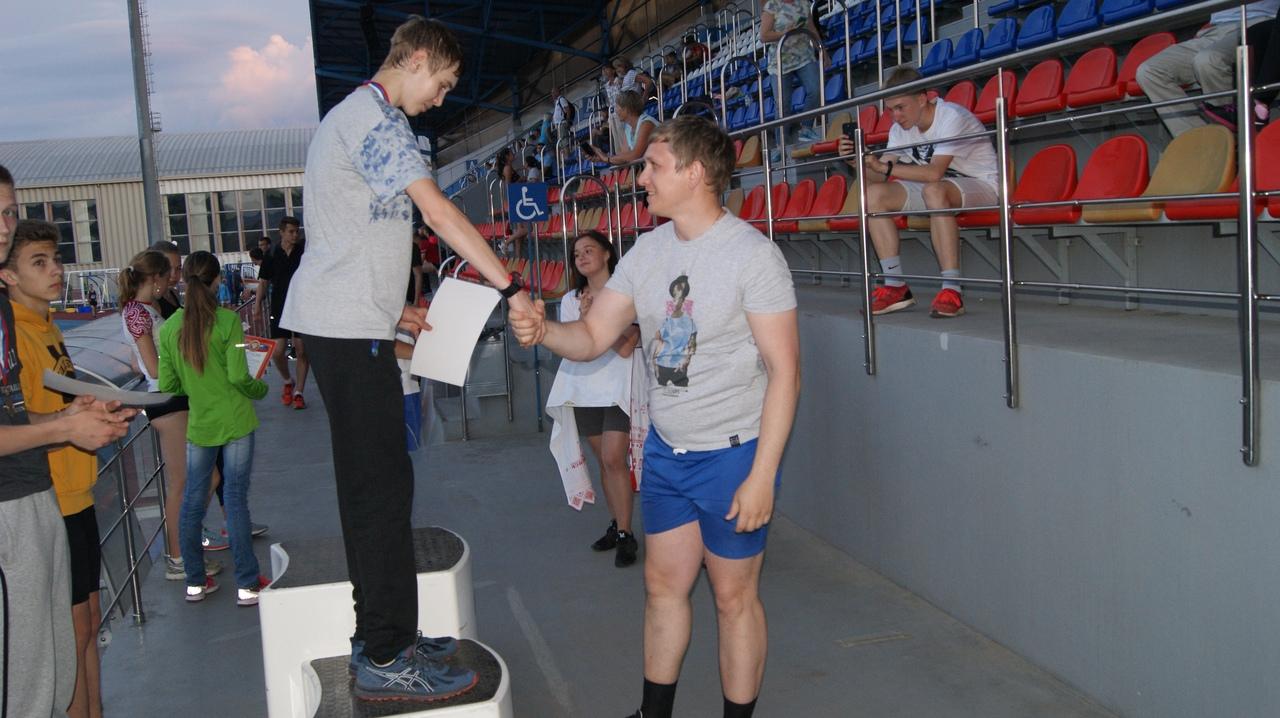 Егор с тренером
