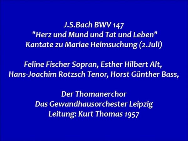 Bach Kantate BWV 147 Herz und Mund und Tat und Leben Kurt Thomas 1957