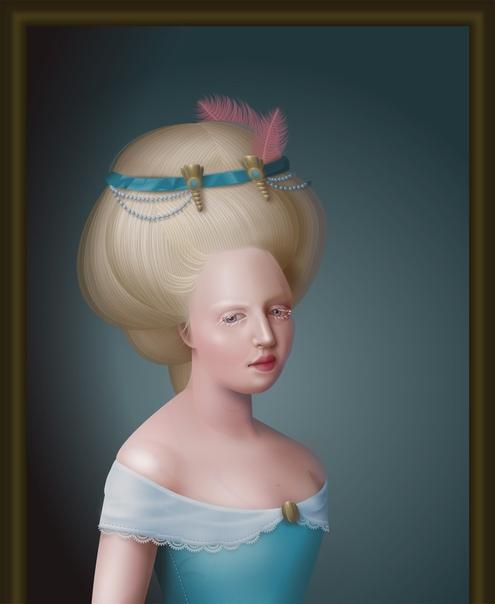 UI-инженер создаёт портреты в стиле барокко с помощью HTML и CSS