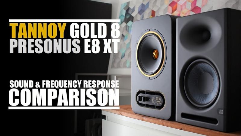 Tannoy Gold 8 vs PreSonus Eris E8 XT Sound Frequency Response Comparison