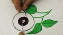 Hand embroidery sunflower embroidery designs with inverted buttonhole stitch