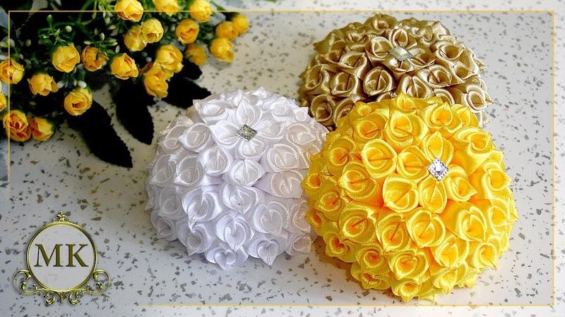 Цветы из лент. Новый лепесток. МК. Канзаши. / DIY. Kanzashi. Ribbon flowers. New petal.