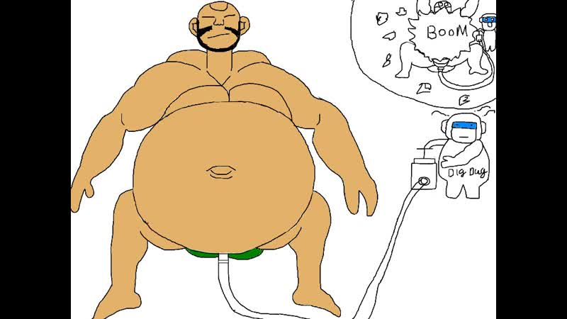 Male belly inflation dig dug