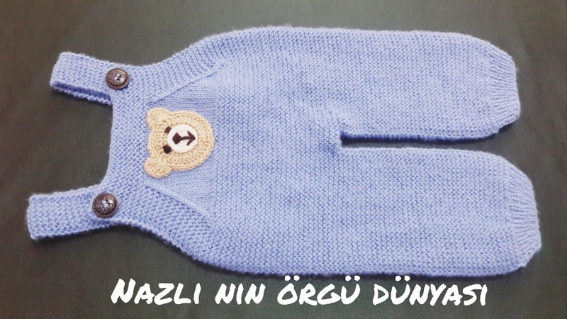 Gardener pants crochet Ayıcık figür modelli bebek bahçıvan tulum yapılışı