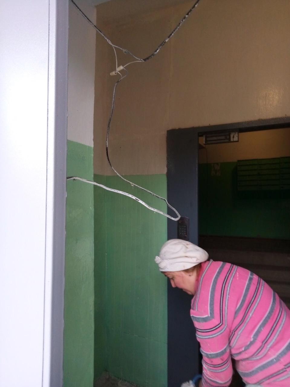 Переулок Гирсовский дом 33 ремонт тамбура с