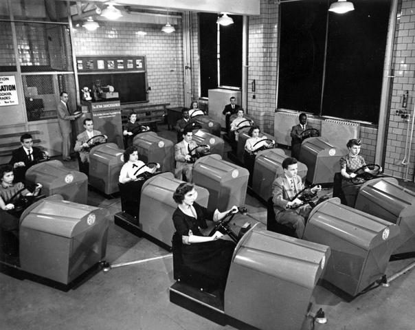 Школа вождения, 1953 год.
