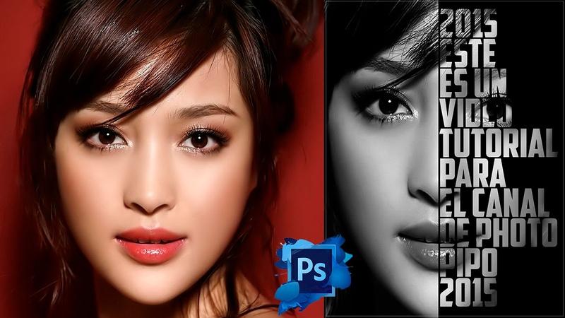 Tutotiales Photoshop CS6 Como Hacer Un Efecto De Cartel Texto - Retrato En Photoshop CS6 (PhotoPipo