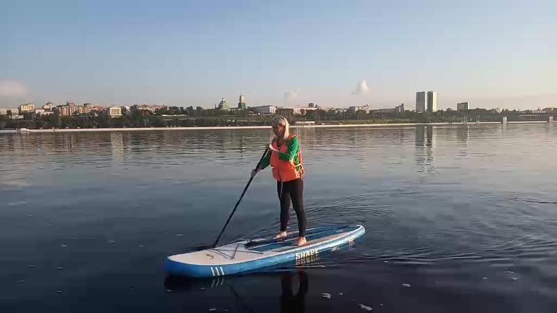 Сап-сёрфинг на Каме (август 2019)