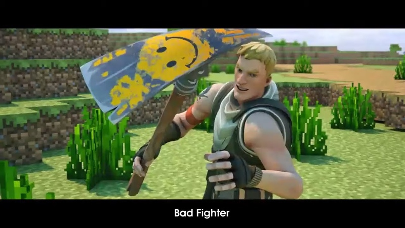 Bad Fighter - A Minecraft Original Music Video vs Fortnite [REDACTED COLORIZED VERSION]