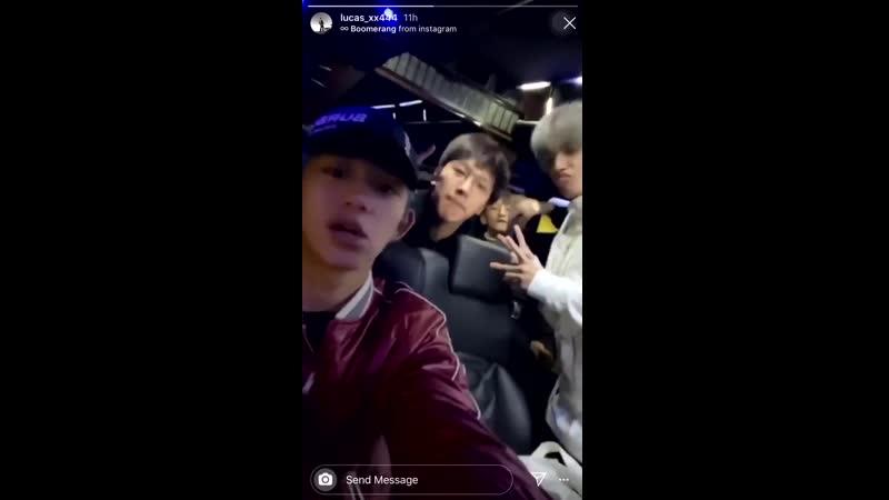 [191114] LUCAS Instagram Story Update - - WayV WeiShenV 威神V @WayV_official