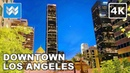 🌅 Sunset walk at Downtown Los Angeles in California USA Travel Guide 🎧 Binaural City Sound 4K