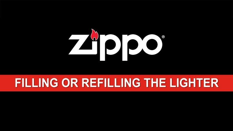 Zippo Instructional Filling or Refilling the Lighter