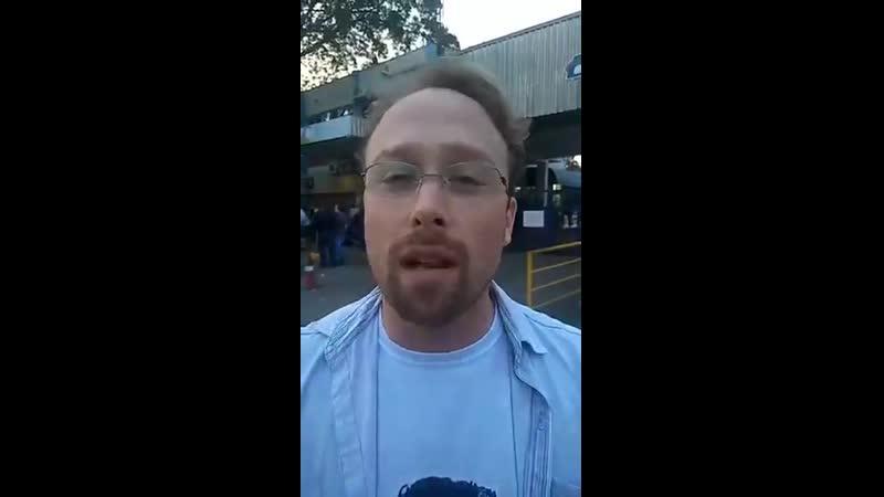Trabalhador falando honestamente da greve geral