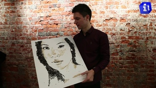 Художник Павел Бондар создаёт портреты с помощью продуктов