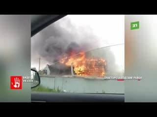 Пожар произошел в Челябинске. Садовый дом сгорел полностью