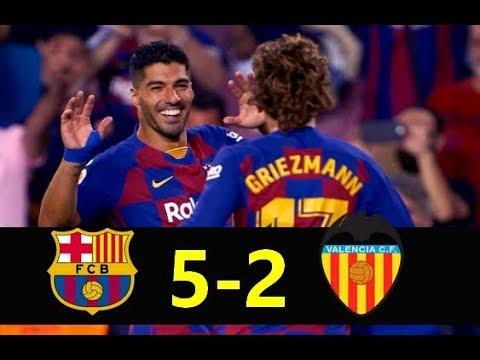 Barcelona vs Valencia ( 5-2 ) 🔥 All Goals Highlights English Commentary / Resumen y Goles 2019