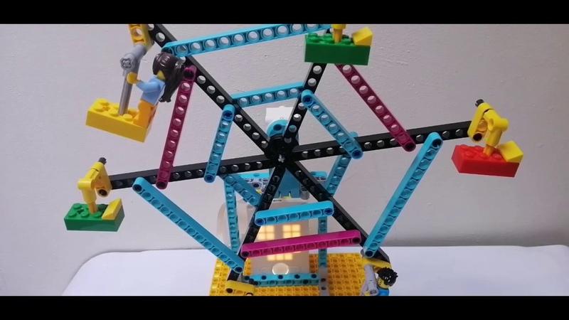 LEGO SPIKE NORIA Fair Ferris Wheel building instructions instrucciones de construccion