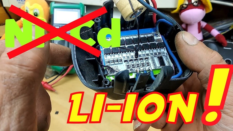 Переделка шуруповёрта с NI-Cd на LI-iON 18650 аккумуляторы используя плату балансировки 3S.