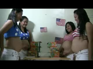 Asian belly stuffing contest