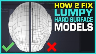 Maya Hard Surface Modeling Tutorial:  Lumpy Surface Fix