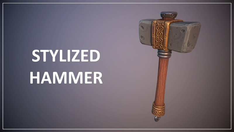 Autodesk Maya|Substance painter|Marmoset Toolbag|ZBrush|Stylized Hammer