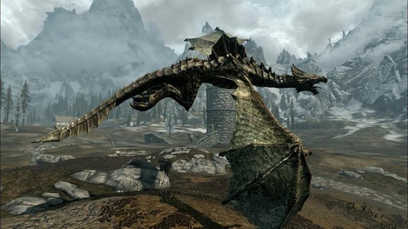 Skyrim VR (Скайрим ВР) Убили Дракона! Огонь Дракон в вертуалке! Сказочник стал Давакином!