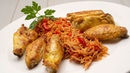Alitas de pollo con fideos rojos - Cocina Abierta de Karlos Arguiñano