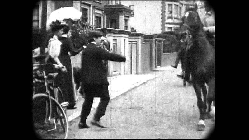 March 8, 1896 - Group arrives in Hampstead Village, London (with sound)