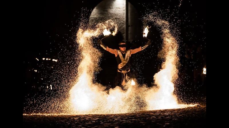 Didžiausias Lietuvoje ugnies šou spektaklis Amazing fire show