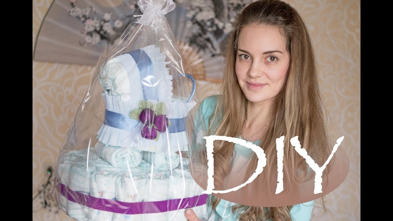 Коляска из памперсов Stroller from diapers DIY Tsvoric