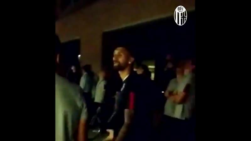 Футболисты Болоньи навестили Синишу Михайловича