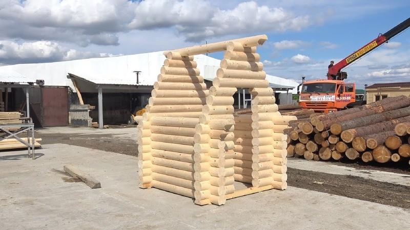 Сруб дачного туалета 2 0х2 0м из бревна Глинки Цена в СПб 25 000 руб