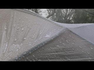 Apple ASMR — A calm rain at camp