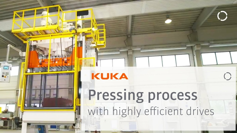 Shorter cycle times for pressing process with highly efficient drives