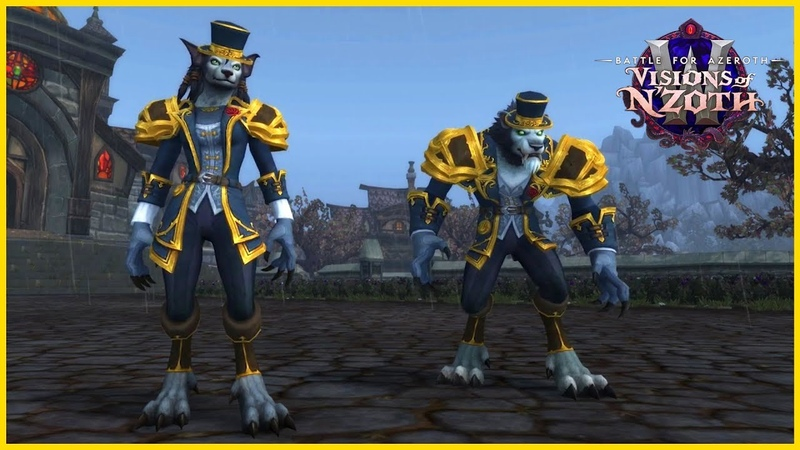 Worgen Heritage Armor | In-game Preview | Allied Race 8.3 Visions of Nzoth