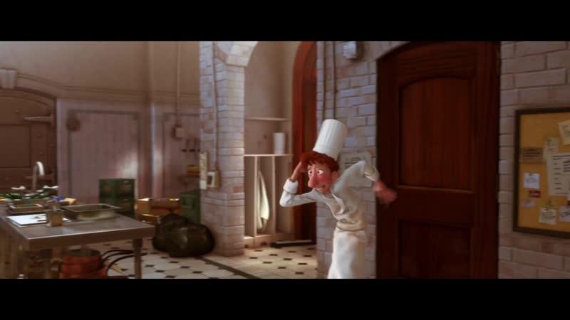 Реми тренирует Лингвини готовить 'Рататуй' отрывок из фильма mp4