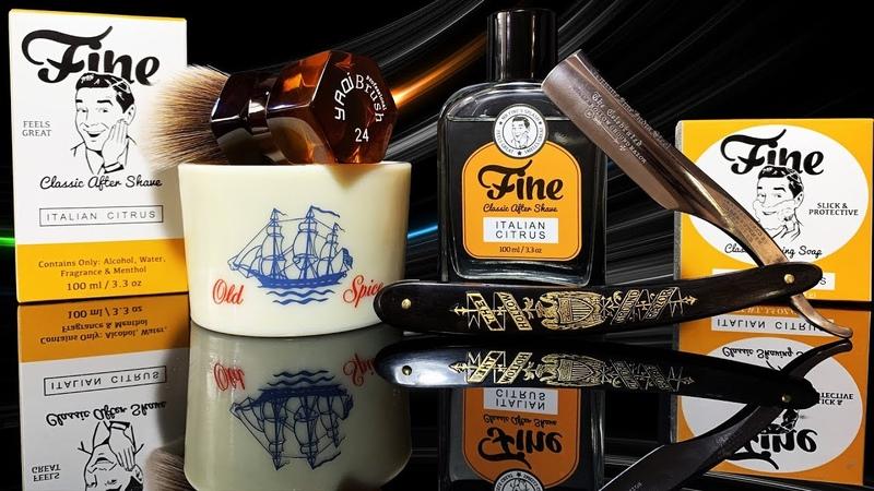 💈 Бреемся опасной бритвой и удивляемся от мыла Wade Butcher Fine Yaqi Brush 24 Old Spice Mug