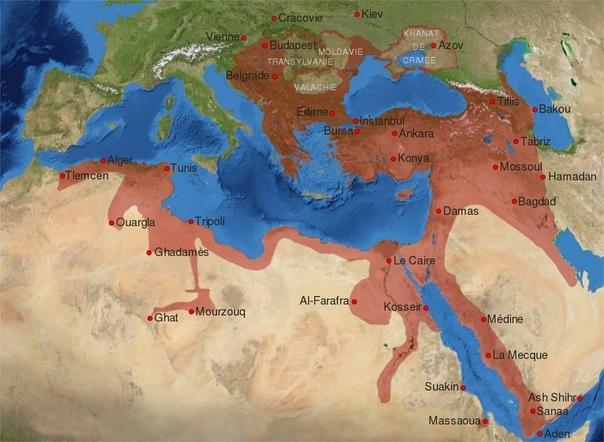 Земли некогда входившие в состав Османской Империи.