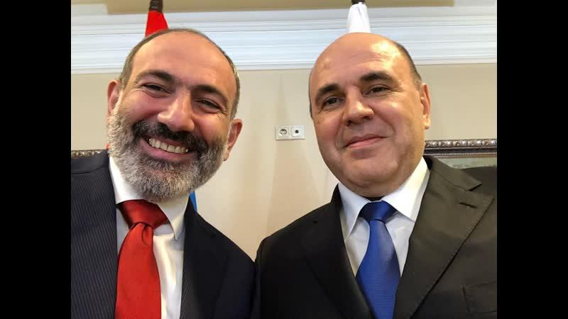 «Սելֆի»-ն հենց հայերեն բառ է. Փաշինյանի սելֆին Միխայիլ Միշուստինի հետ